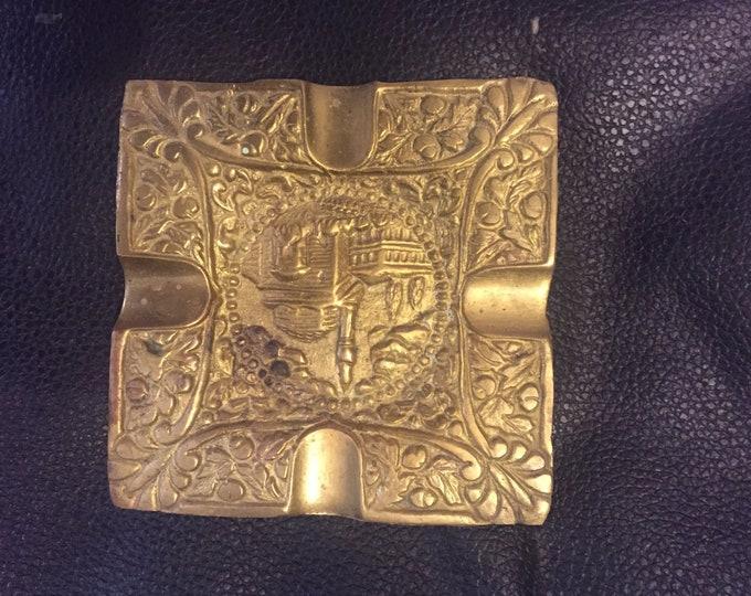 Solid Brass Plate, Brass Plate, Brass Dish, Copper Dish