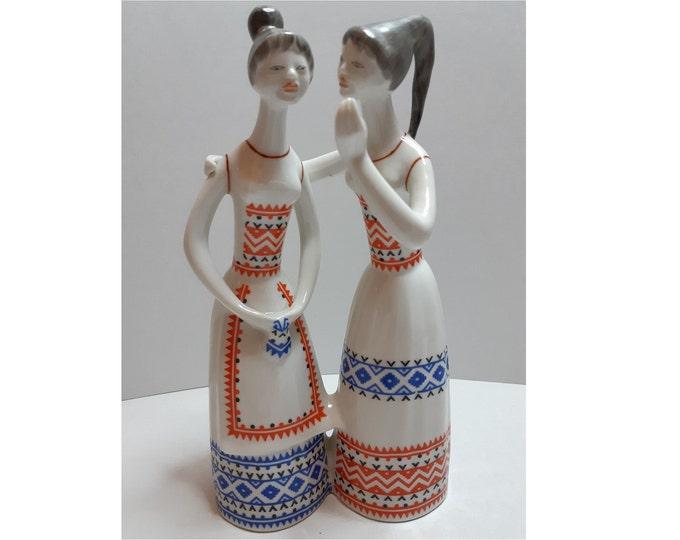 Hollohaza Porcelain, Hollohaza Hungary, Hollohaza Ladies