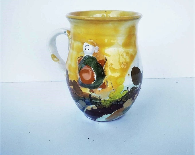 Ceramic Mug, Handpainted Mug, Child Mug, Tortoise Mug