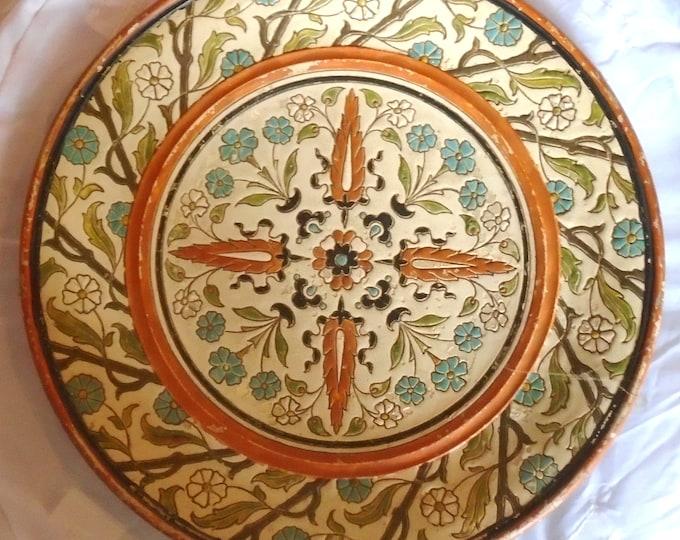 Johann Maresch Plate, Terracotta Plate, Huge Plate