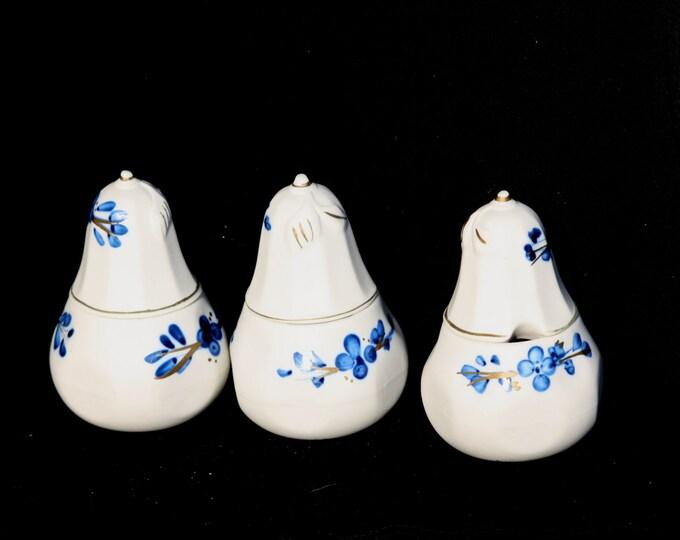 Spice Holder, Capodimonte Spice Holder, Porcelain Spice Holder, Capodimonte Porcelain, Unglazed Porcelain