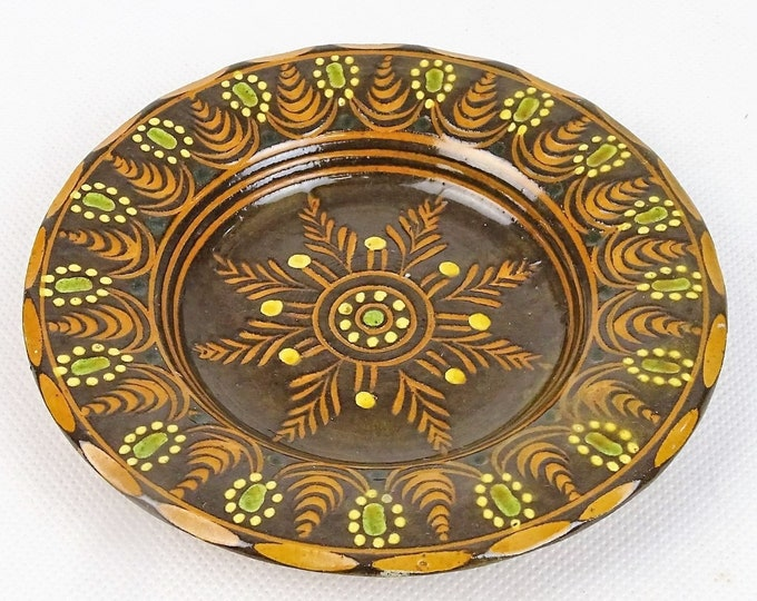 Folk Plate, Traditional Plate, Hungarian Pottery, Wall Plate