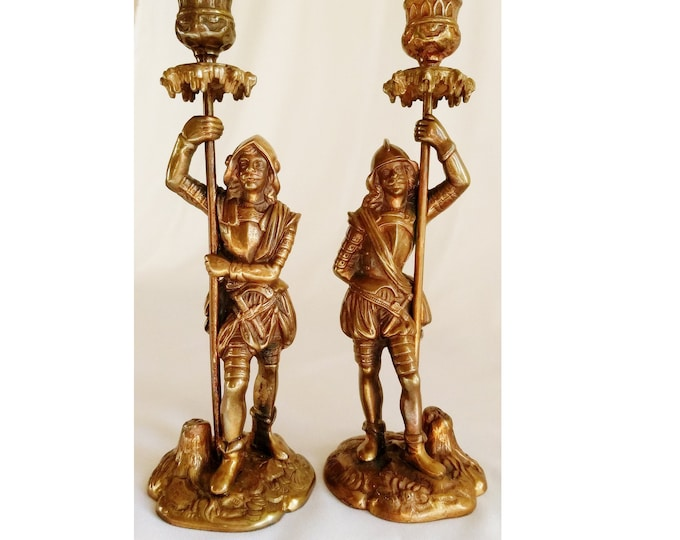 Bronze Candelabra, Bronze Statue, Bronze Sculpture, Bronze Figurine, Bronze Antique Soldiers