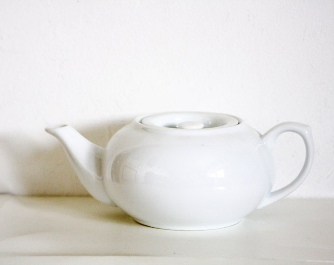 White Teapot, Porcelain Teapot, White Porcelain, White Teapot, Totally White Teapot