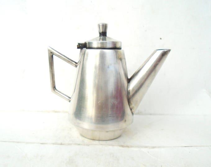 Miniature Teapot, Alpacca Teapot, Nickel Teapot, Art Deco Teapot, Little Teapot