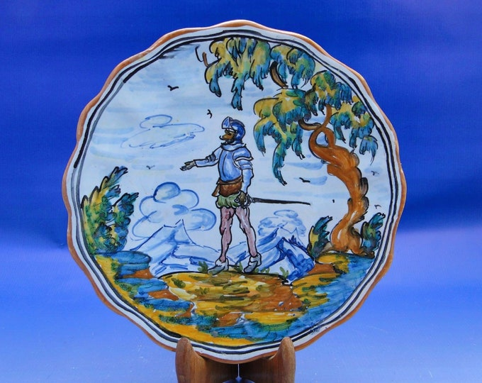 Spanish Majolic Plate, Telavera Espana, Decorative Wall Plate