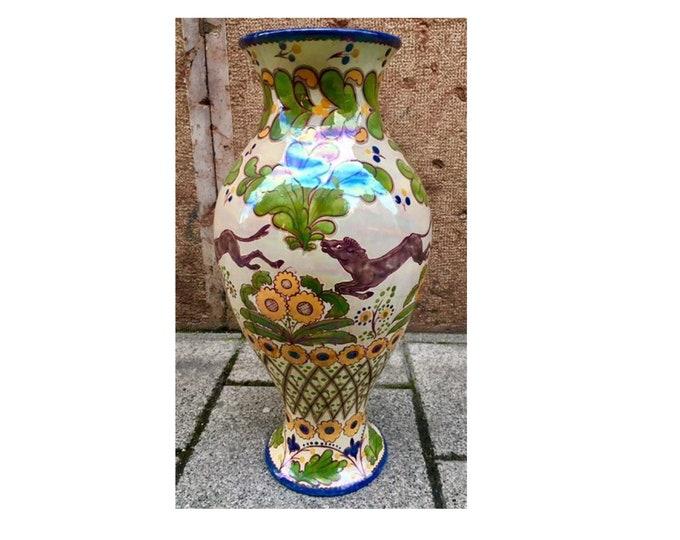 Monumental Zsolnay Vase, Zsolnay Eosin, Rund Stmaped Zsolnay, Huge Zsolnay