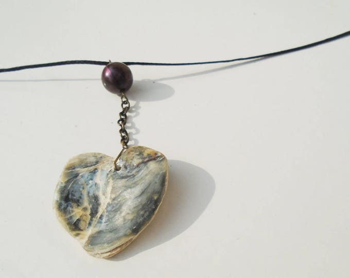 Oyster Necklace, Shell Necklace, Beach Necklace, Oyster Jewelry, Oyster Talisman, Sea Medal