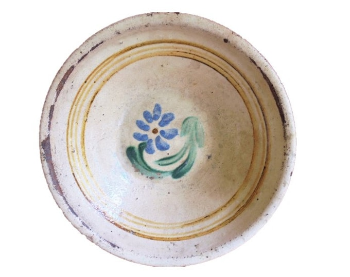 Clay Plate, Transylvania Pottery, Folk, Antique Peasant Plate