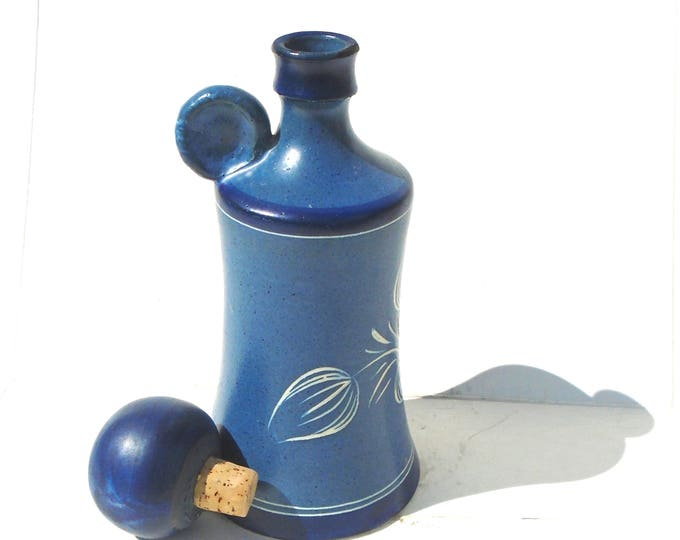 Snuff Bottle, Water Bottle, German Bottle, Folk Water Bottle, Stoneware Bottle, Blue Bottle