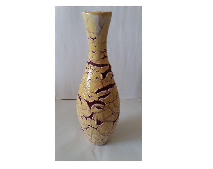 Art Deco Vase, Retro Vase, Applied Art Retro Vase, Vintage Vase, Vase from 1970's, Hungarian Retro Vase, Ceramics Vase, Pottery Hungarian