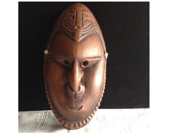 Ceramic Mask, Terracotta Carnival Mask, VWall Hanging Mask, Wall Decor Mask