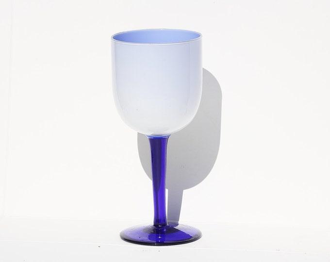 Blue Glass, Dark Blue Glass, Ice Cream Glass, Candy Glass, Light Blue glass, Decorative Glass, Glass Goblet, Wedding Goblet