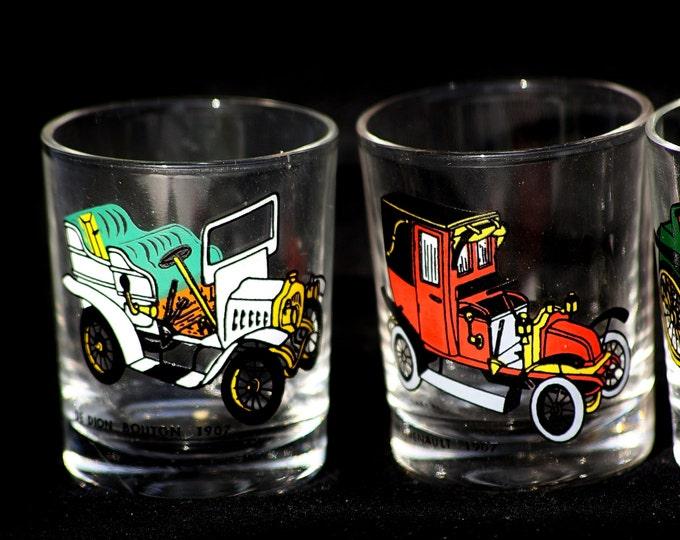 Vodka Glass, Automobile Glass, Olds Mobile, Hard Drink Glass, soviet drink glass, small glass, little drinking glass, short glass