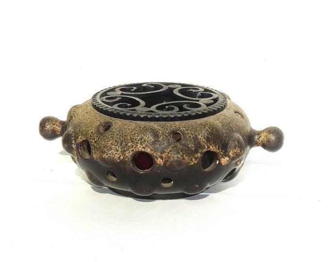 Stoneware Heater, Stoneware Lighter, Vintage Heater