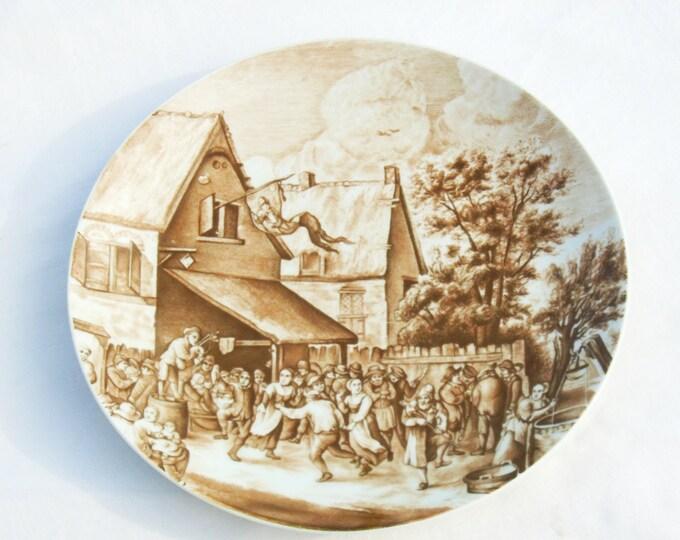 Bavaria Plate, Wall Hanging Plate, Street Scene Plate, Bareuther Plate, Porcelain Wall Plate, Wall Plate, German Porcelain Plate