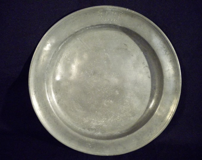 Pewter Plate, 18th Century Plate, Antique Pewter