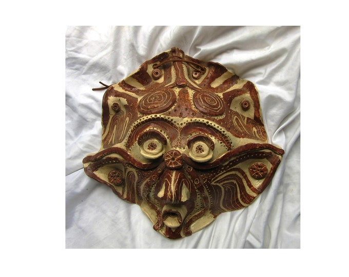 Folk Ceramic Face, Folk Mask, Ceramic Face, Handpainted Face