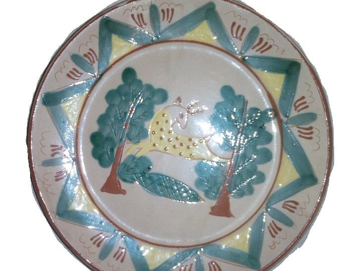 Ceramic Plate, Miniature Hucul Plate, Folk Plate, Folk Ceramic Plate, Clay Plate, Handpainted Plate