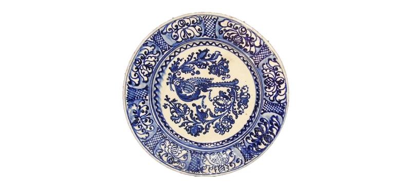 Clay Plate Folk Antique Peasant Plate Transylvania Pottery