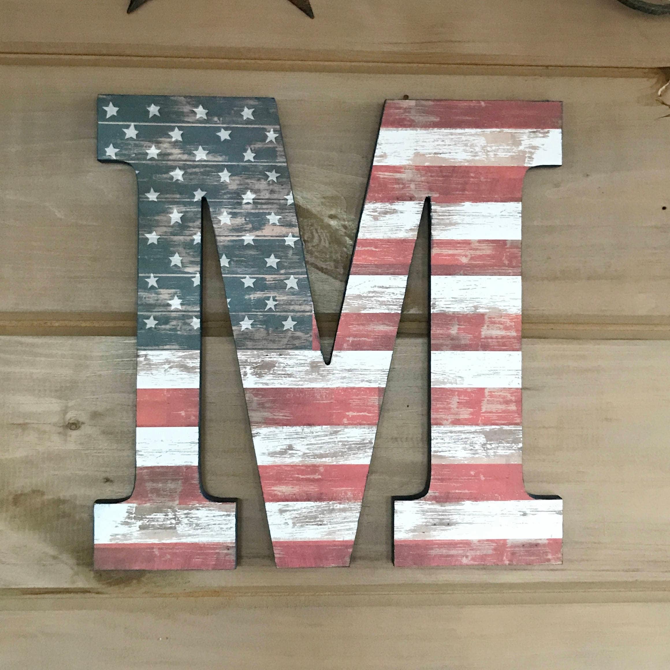 12 American Flag Wall Art Wall Decor Rustic Decor