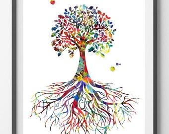 tree of life poster etsy