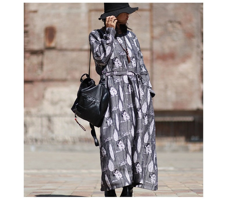 Casual Dress Long Dress Autumn Dress For Women Travel Dress Womens Autumn Loose Fitting A Line Style Elegance Robe Dress With Pockets