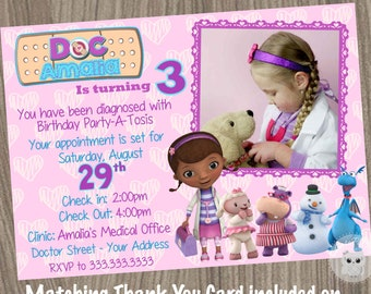 Doc McStuffins Invitation Birthday Party Doctor Mcstuffins