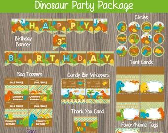 Dinosaur Party Package, Dinosaur Birthday, Dinosaur Party, Dino Party Package, Dinosaur Party kit, Dinosaur Birthday Party Decor