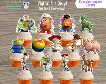 Toy Story Cupcake Toppers, Toy Story Toppers, Toy Story Birthday, Toy Story Decor, Toy Story Party, Toy Story Cutouts, Toy Story Cut Out