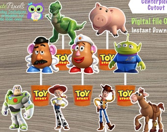 Toy Story Centerpiece, Toy Story Cake Topper, Toy Story Toppers, Toy Story Birthday, Toy Story Decor, Toy Story Party, Toy Story Cutouts