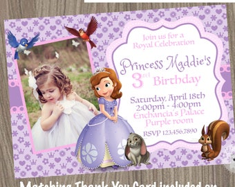 Sofia the first invitation etsy sofia the first invitation princess sofia invitation princess birthday invitation sofia the first birthday sofia the first party filmwisefo