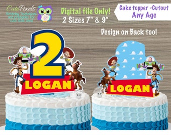 Toy Story Cake Topper Centerpiece Toppers Birthday Decor Party Cutouts