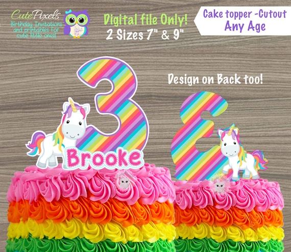 Unicorn Cake Topper Rainbow Cake Topper Unicorn Centerpiece