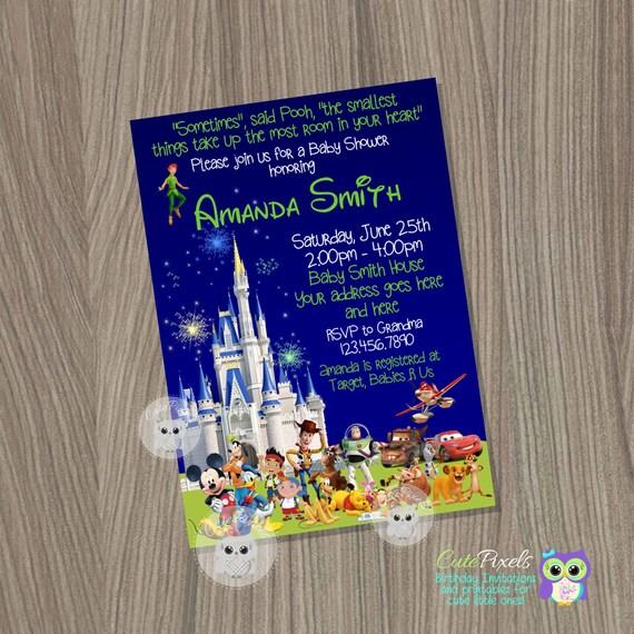 baby shower invitation for boys disney baby shower baby boy shower