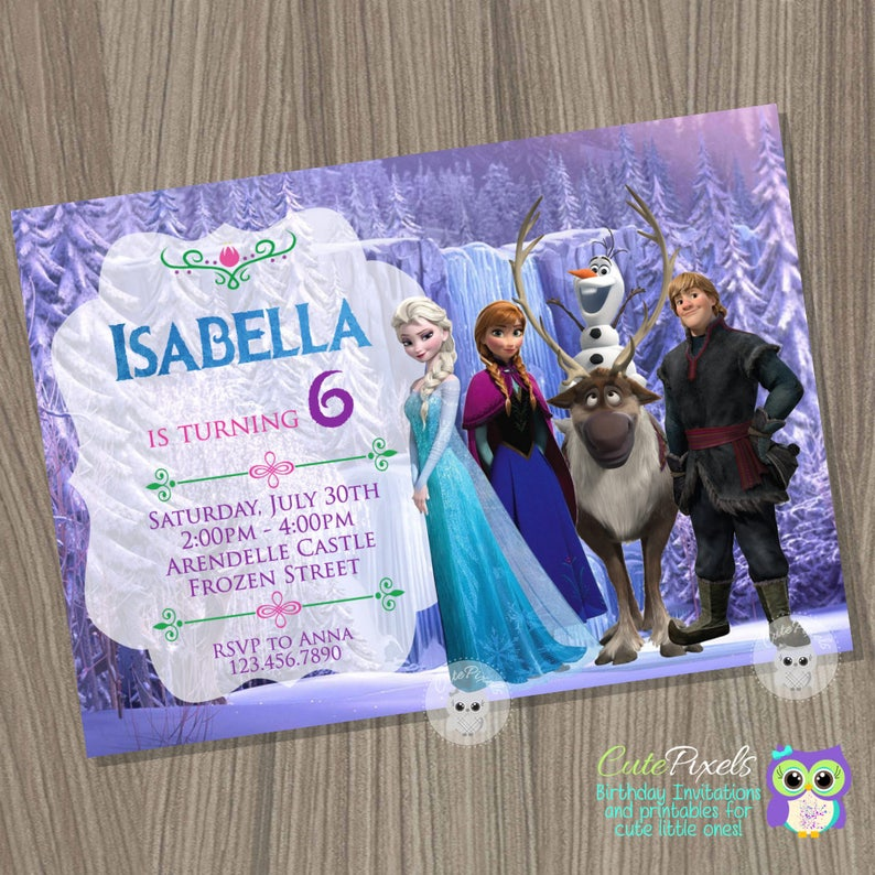 Frozen Invitation Disney Birthday