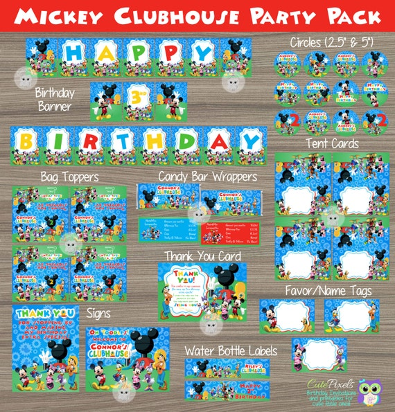 Mickey Mouse Party Decorations Clubhouse Birthday Package