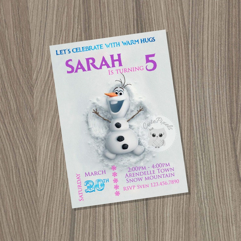 Frozen Birthday Invitation Disney