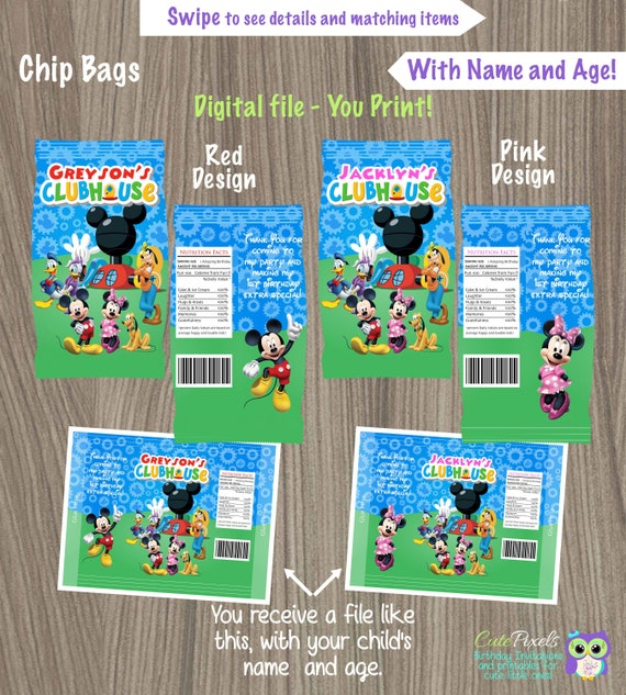 picture relating to Printable Chip Bags named Mickey Mouse Chip Luggage, Printable Chip Luggage, Mickey Mouse