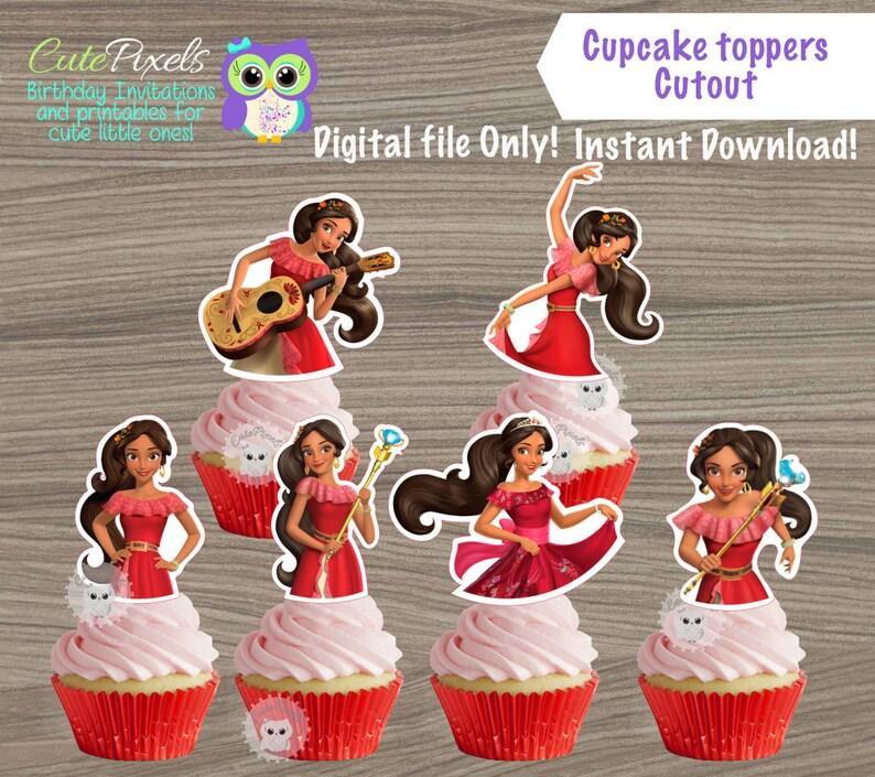 Elena Of Avalor Cupcake Toppers Princess