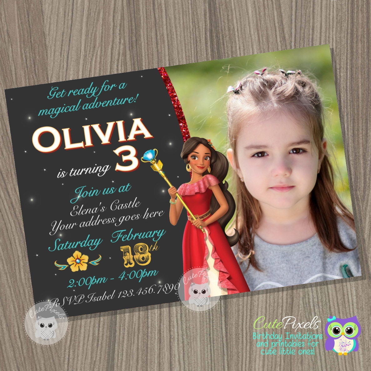 Elena Of Avalor Invitation Princess Disney Birthday
