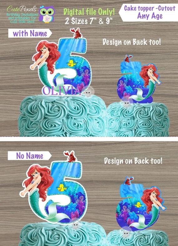Incredible Little Mermaid Cake Topper Princess Ariel Cake Topper Little Etsy Funny Birthday Cards Online Elaedamsfinfo