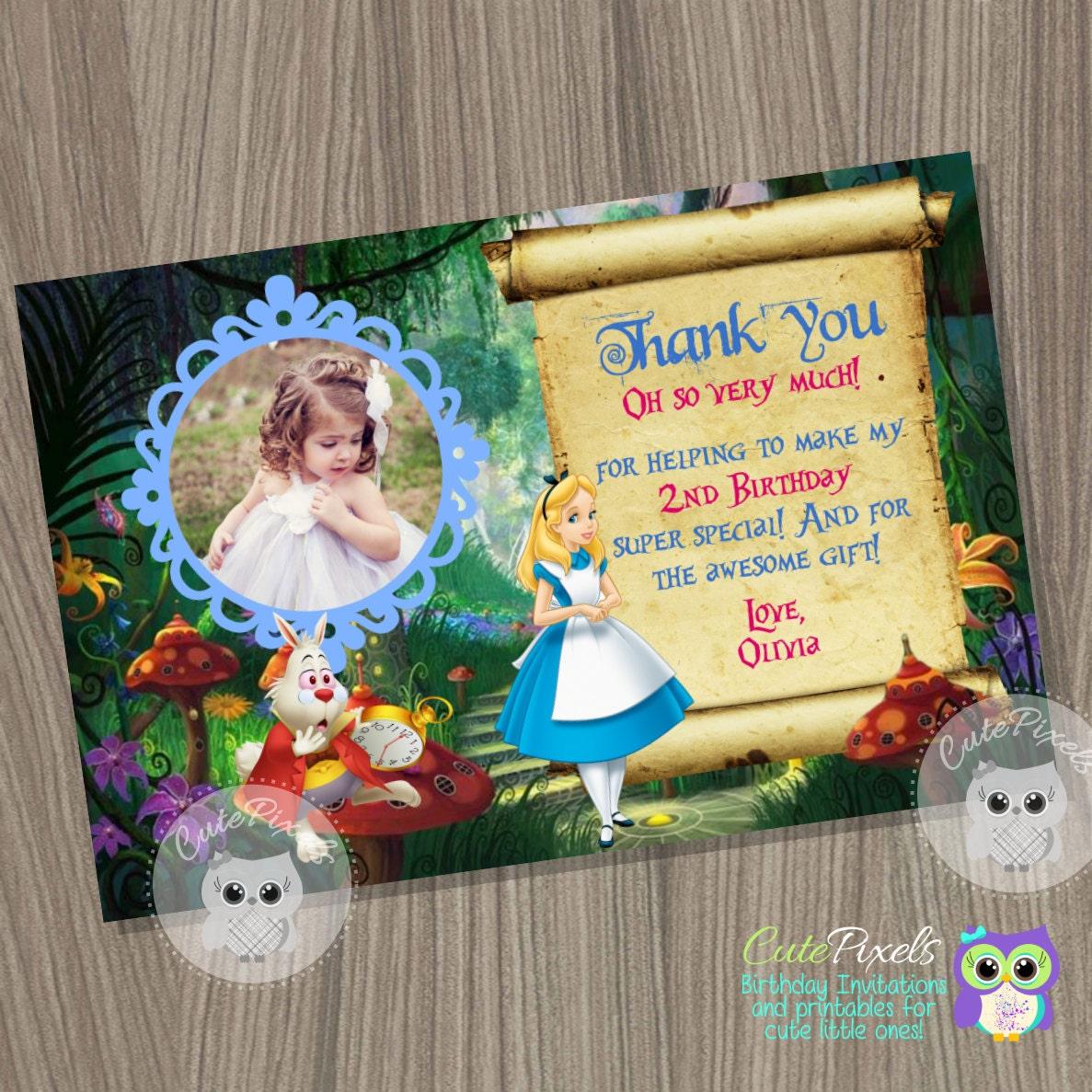 Alicia en el país de las maravillas gracias tarjeta Alicia en | Etsy