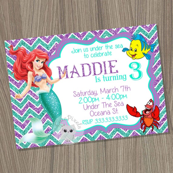 The Little Mermaid Cupcake Toppers Princess Ariel Cupcake Etsy