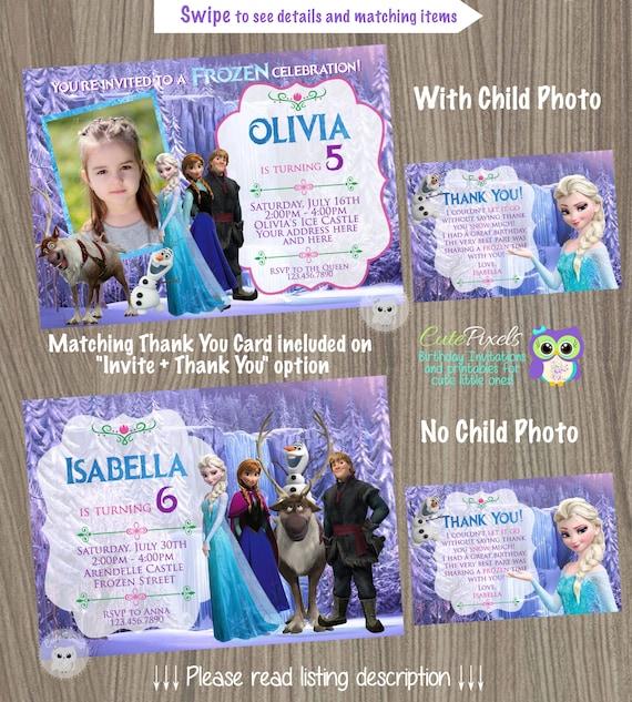 Frozen Birthday Invitation Disney Elsa Party All Characters Invite