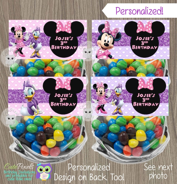 Minnie Mouse Bag Toppers Daisy Duck Birthday Favor Bags Party And