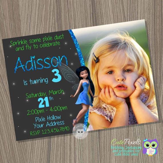 Silvermist Fairy Invitation Birthday