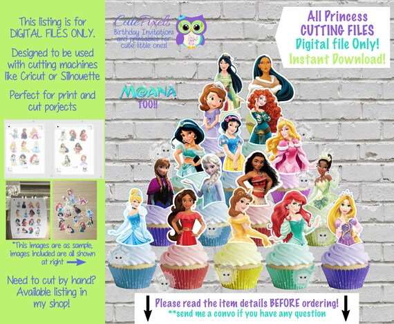 Disney Princess Svg Cutting Files Disney Princess Print And Etsy