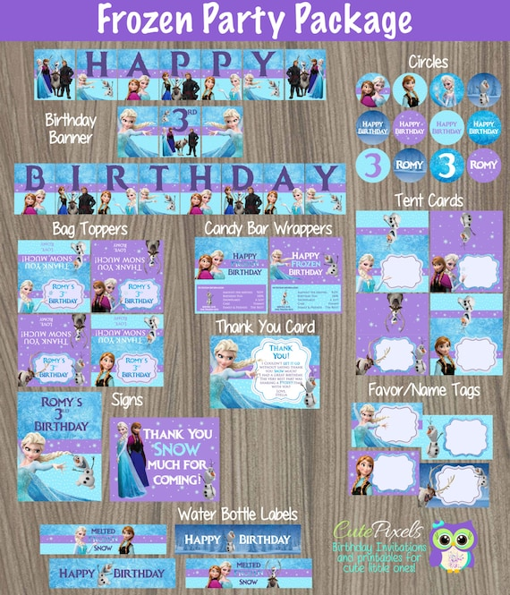 Frozen Party Decorations Frozen Party Package Frozen Birthday Disney Frozen Frozen Party Frozen Party Decor Frozen Birthday Party Deco