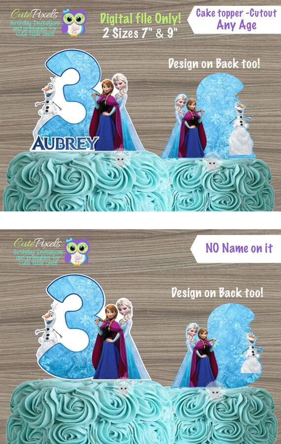 Excellent Frozen Cake Topper Frozen Centerpiece Disney Frozen Birthday Funny Birthday Cards Online Fluifree Goldxyz